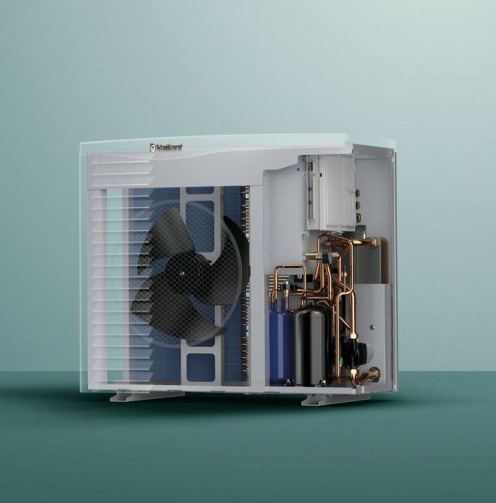 Wartmtepomp lucht water interne componenten