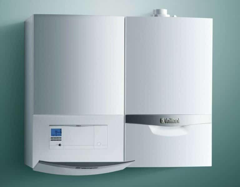 Vaillant geotherm VWS warmtepomp met gascondensatieketel ecotec plus in hybride opstelling