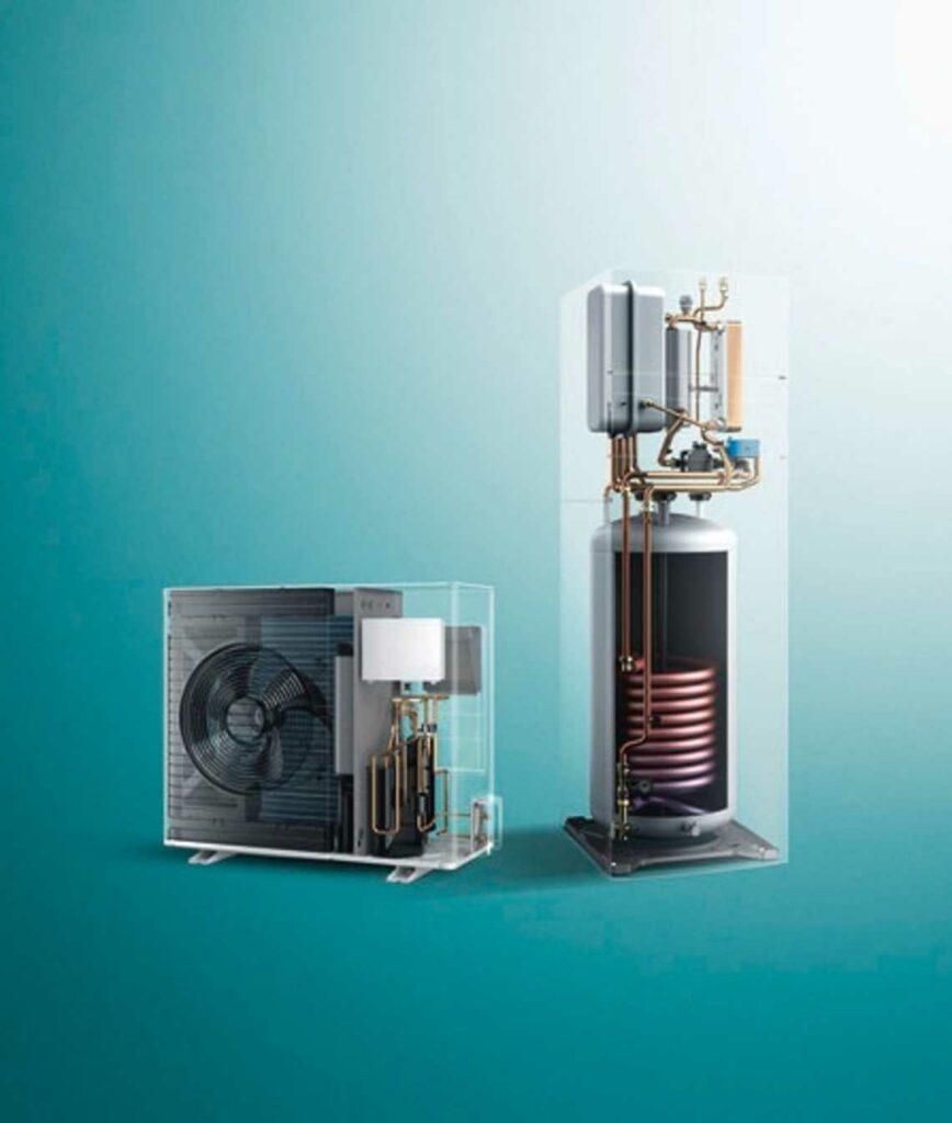 Vaillant arotherm split lucht water warmtepomp + unitower met ingebouwde boiler