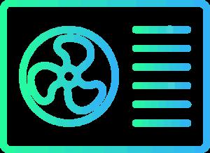 Warmtepomp airco logo gradient