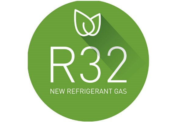 Milieuvriendelijk koude middel R32 logo