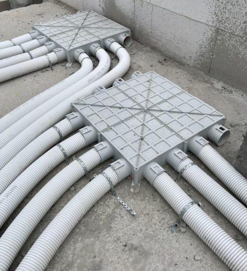 Begetube profiair verdeelcollectoren 63mm voor ventilatie D op plat dak